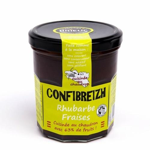 Confibreizh Rhubarbe Fraises 320g