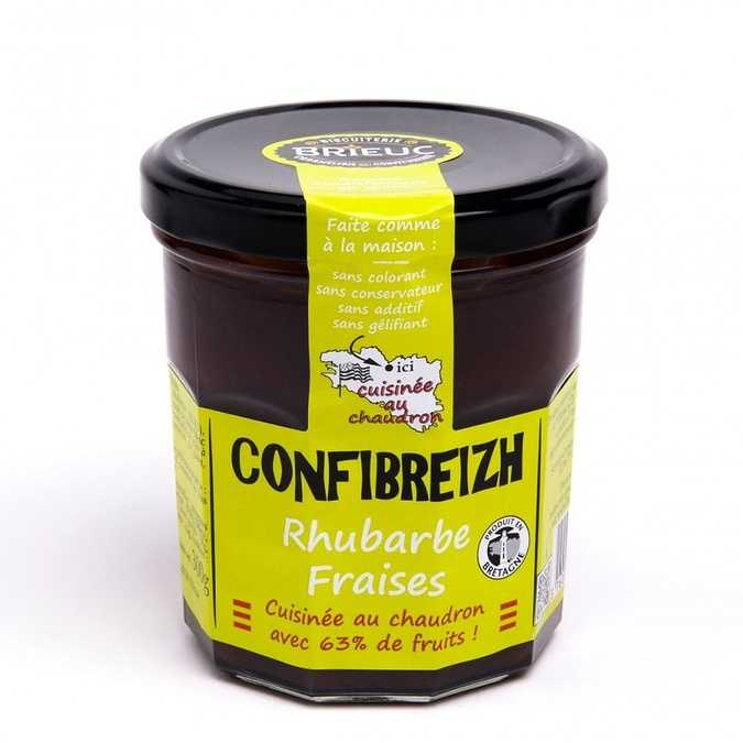 Confibreizh Rhubarbe Fraises 320g 0