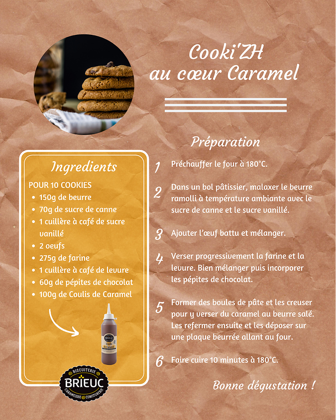 Caramel Heart Cooki''ZH Recipe recette201909cookizhcoeurcaramel
