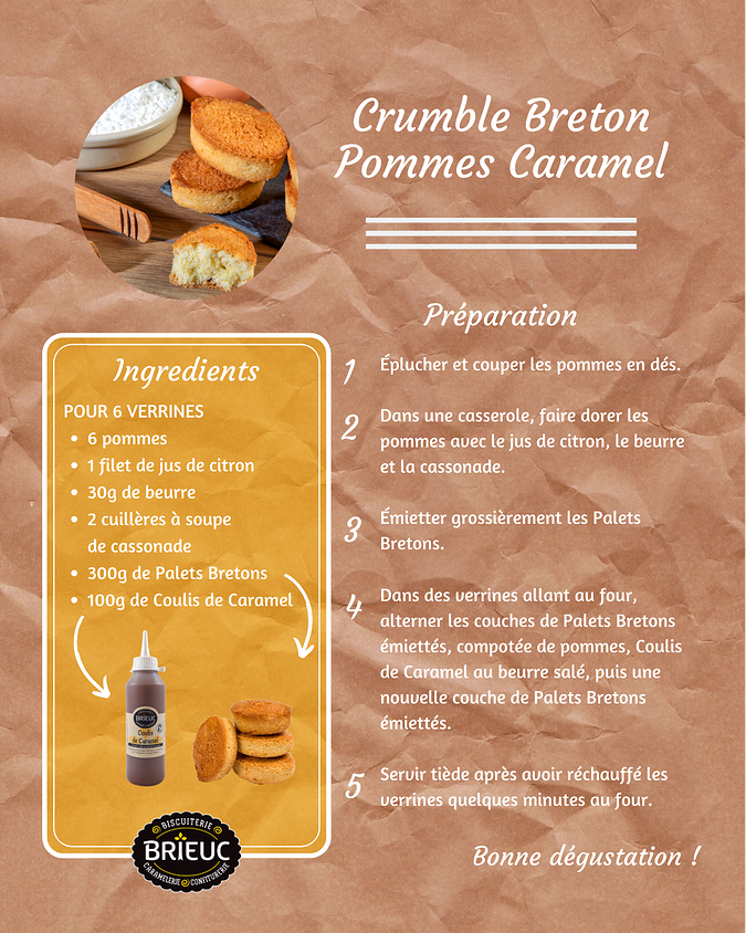 Recipe: Breton apple crumble and salted butter caramel recette201910crumblepommes